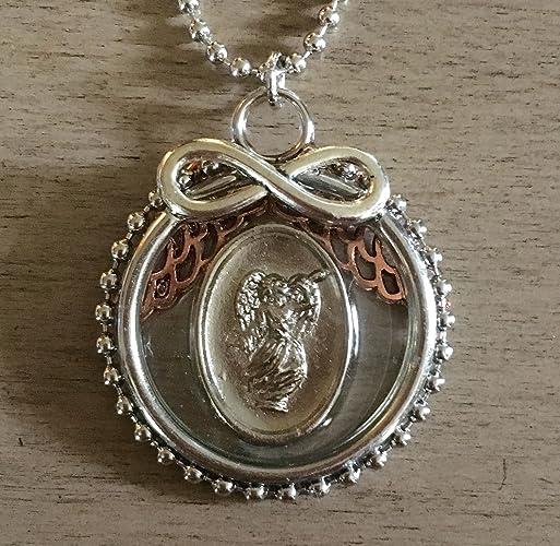 Amazon com: Archangel Gabriel Double-Sided Pendant: Handmade