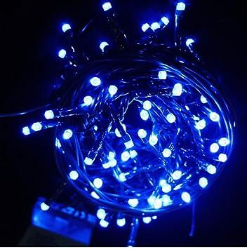 Centraline Per Luci Natalizie.Natale Led Mini Luci 100 Pz Blu Luce Fredda Centralina