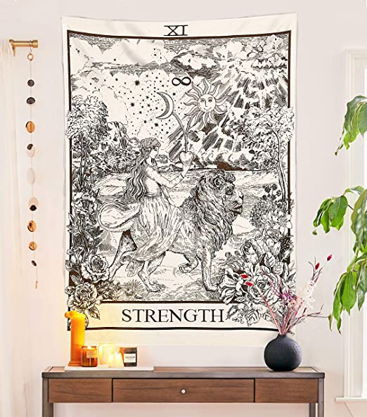 Tarot Flag Tapestry The Star  The Earth The River Mandala Poster Hippie Cotton Printed Handmade Wall Hanging Wall Tapestries