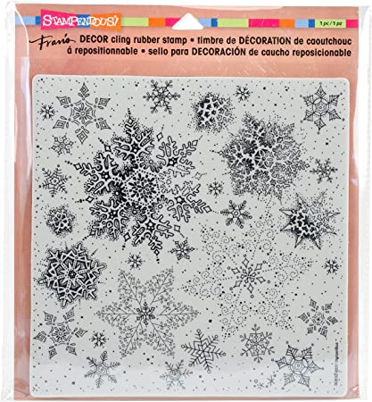 Rubber stamp SNOWFLAKE  set 10 stamps FREE POSTAGE