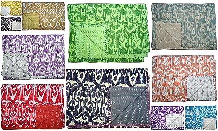 Quilts, Bedspreads & Coverlets Home & Garden Indian Mukut Kantha Quilt Cotton Bedspread Boho Throw Blanket Ralli Gudari Yet Not Vulgar