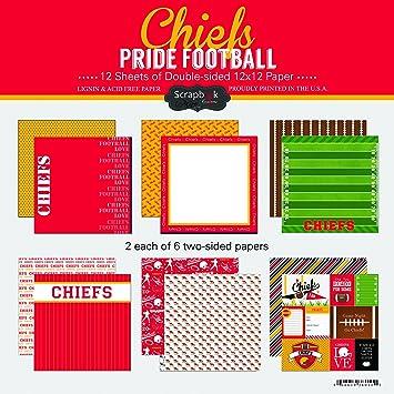 amazon com scrapbook customs chiefs pride football scrapbook kit