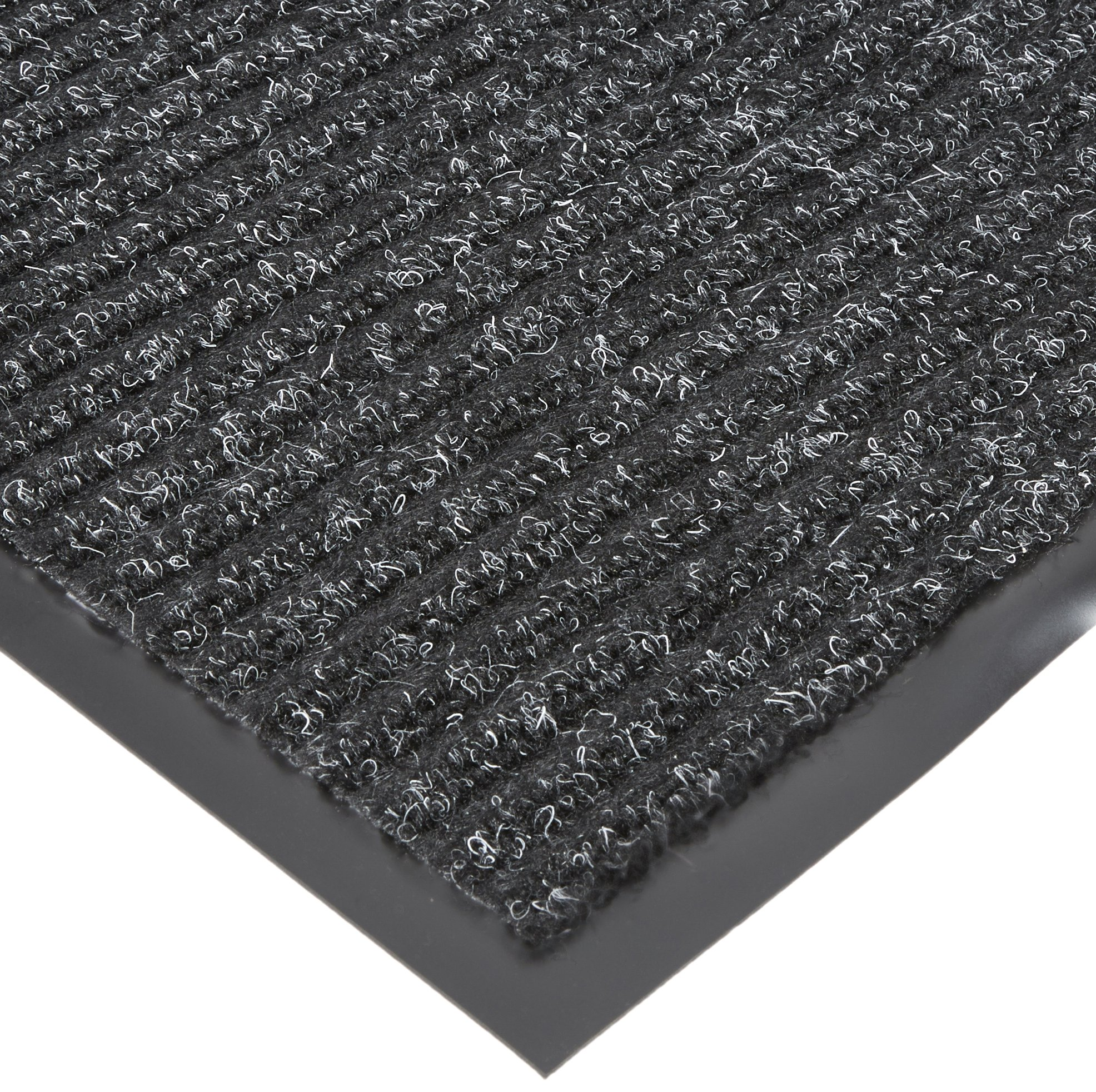 NoTrax T39 Bristol Ridge Scraper Carpet Mat, for Wet and Dry Areas, 4' Width x 20' Length x 3/8'' Thickness, Midnight