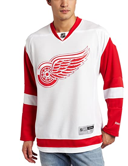 online store 1398c b40b6 Reebok Detroit Red Wings NHL White Official Premier Home Jersey for Men