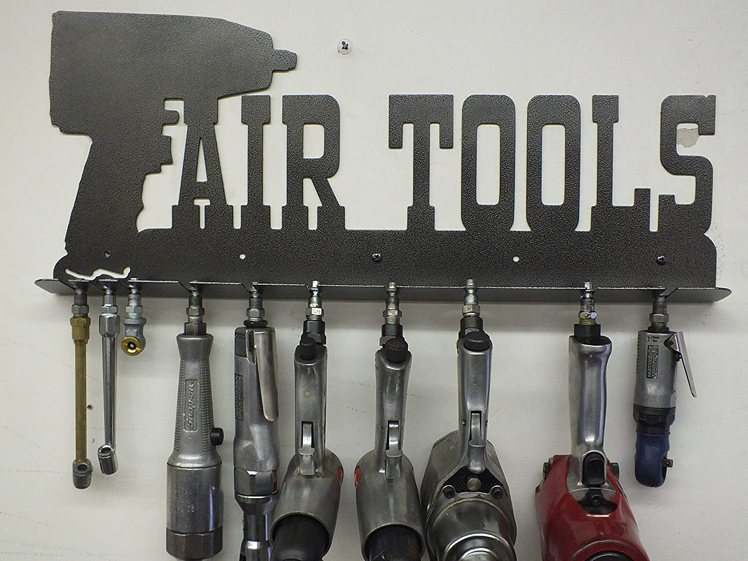 Mechanic's Air Tool Rack - Toolbox - Shop Sign - Tool Storage - Metal Wall Art Man Cave GREAT GIFT