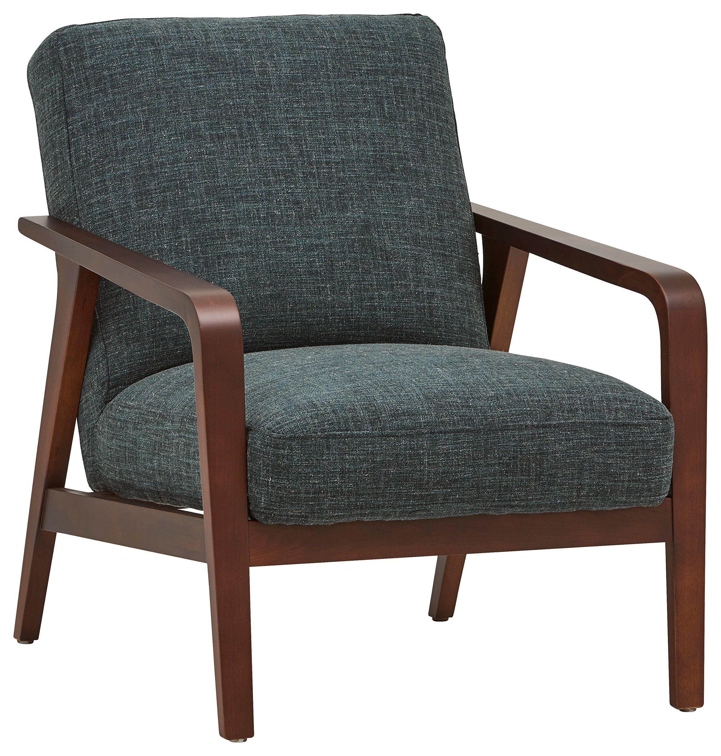 Rivet Huxley Mid-Century Modern Accent Chair, 28.3''W, Marine Blue by Rivet