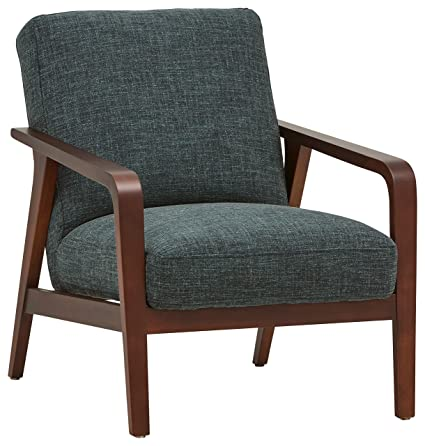 Amozon Accent Chairs.Rivet Huxley Mid Century Modern Accent Chair 28 3 W Marine Blue