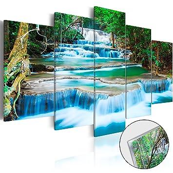 murando - Acrylglasbild Landschaft 100x50 cm - 5 Teilig - Glasbilder ...