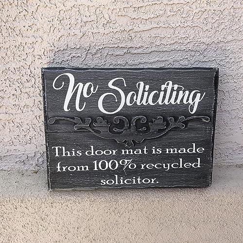 Funny No Soliciting Sign 12u0026quot;x9u0026quot; U0026quot;this Door Mat Is ...