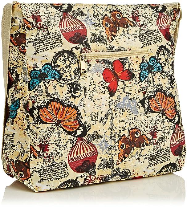 Womens Atlantis Butterfly Map Print Messenger Satchel Swankyswans ZRumi