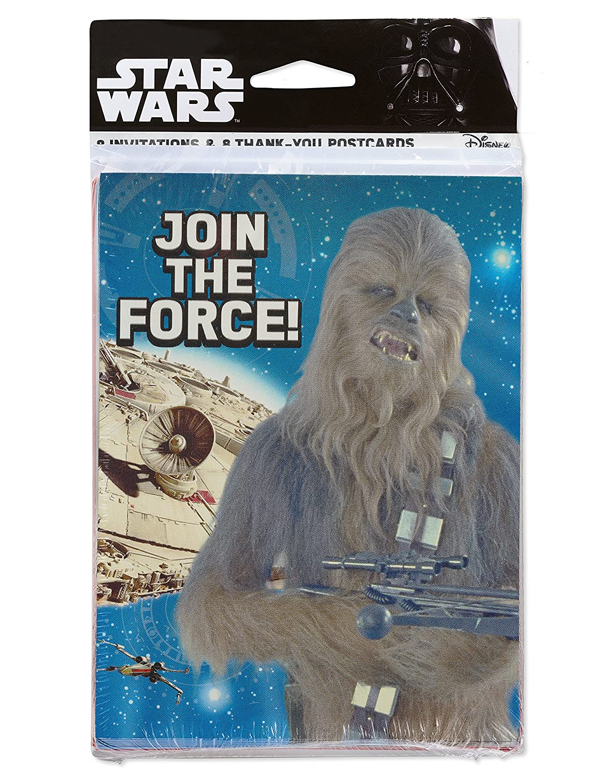 American Greetings Star Wars Episode 8 Invite and Thank You Combo Multicolor