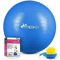 TRESKO® Pelota de Gimnasia Anti-Reventones | Bola de Yoga Pilates y Ejercicio | Balón para Sentarse | Balon de Ejercicio…