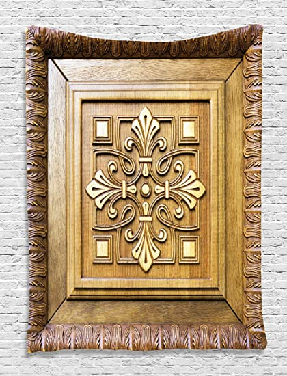 Amazon ambesonne ornamental antique carving wooden art
