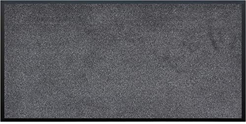 Calloway Mills Home More 103980306 Rough-N-Ready Indoor Outdoor Vinyl Backed Commercial Mat, Charcoal 3 x 6