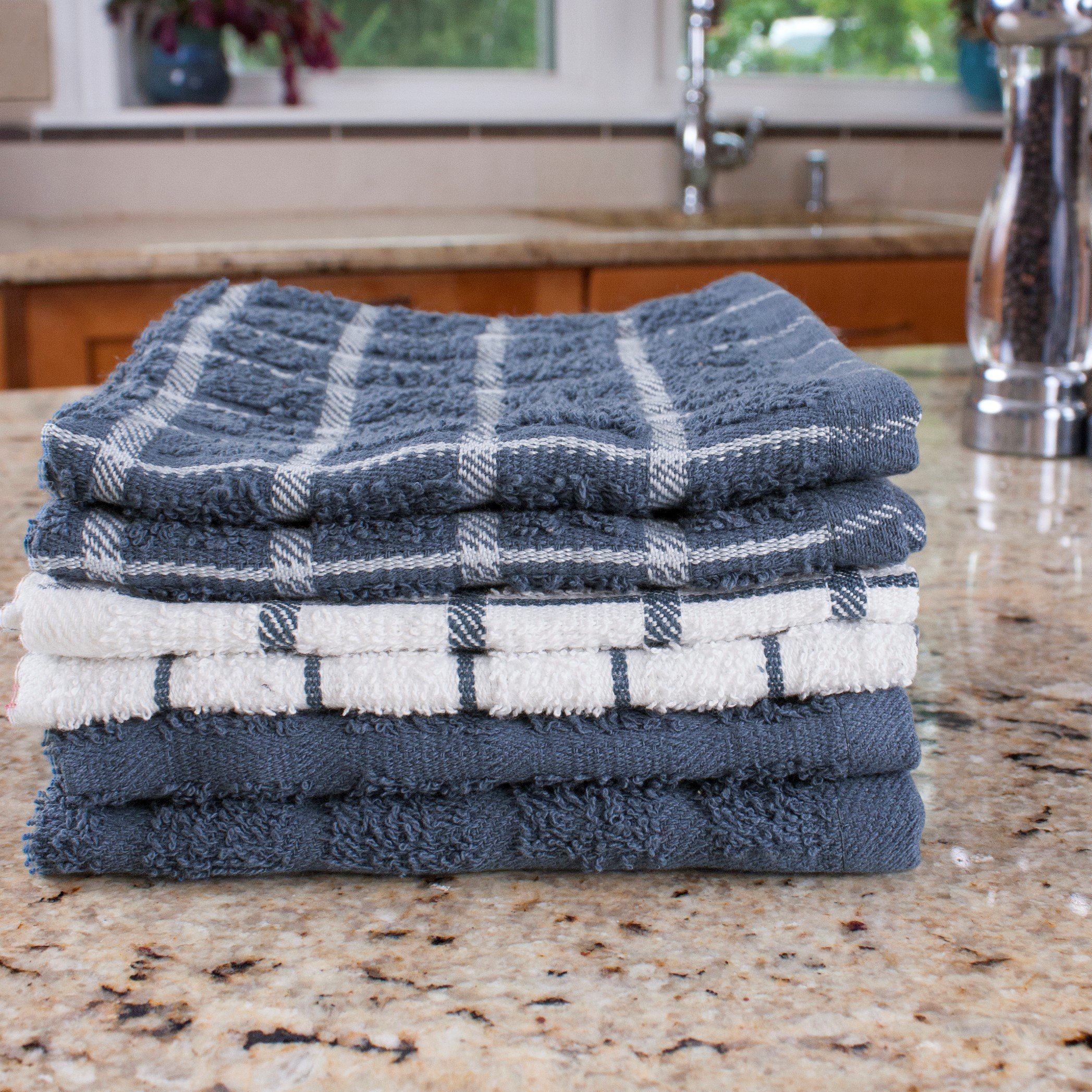 "Ritz 100% Terry Cotton, Highly Absorbent Dish Cloth Set, 12"" x 12"", 6-Pack, Federal Blue by Ritz (Image #10)"