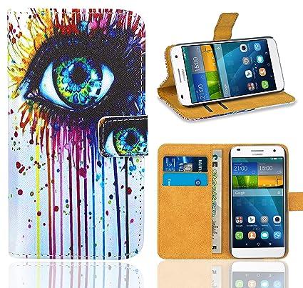Huawei Ascend G7 Funda, FoneExpert® Wallet Flip Billetera Carcasa Caso Cover Case Funda de Cuero Para Huawei Ascend G7 (Pattern 10)