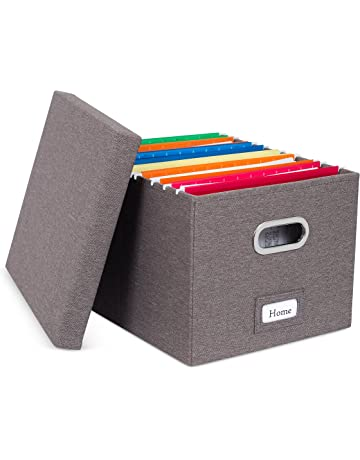 Storage File Boxes | Amazon com | Office & School Supplies - Office