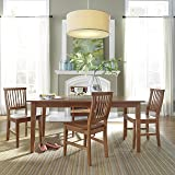 Alpine newberry extension dining table tables for Arts and crafts 5 piece dining set