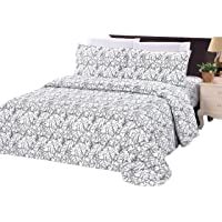 Bamboo Living Ultra Soft Silky Rich Printed Bamboo 3 Pieces Duvet Cover Set with 2 Pillow Shams