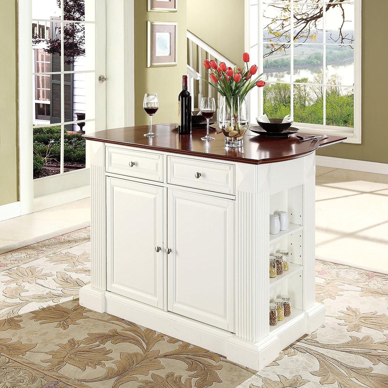Amazon Crosley Furniture Drop Leaf Kitchen Island Breakfast