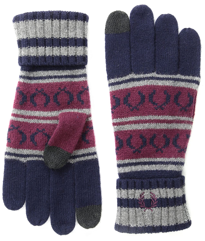Fred Perry Men's Fairisle Touchscreen Knit Gloves C5119