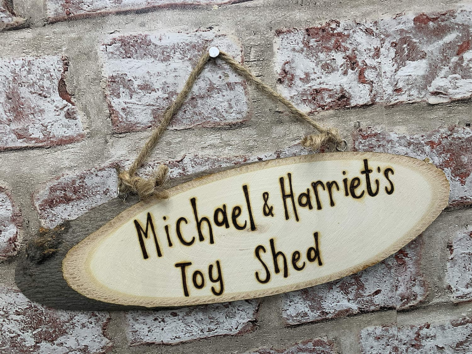 Childrens Kids Playhouse Mud Kitchen Treehouse Personalised Wooden Wall Door Plaque Hanging Sign Gift