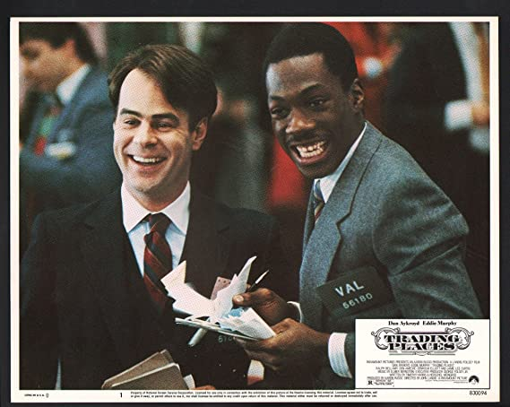 amazon com movie poster trading places lobby card eddie murphy and