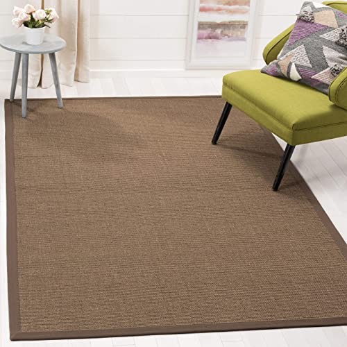 Safavieh Natural Fiber Collection NF441C Hand Woven Brown Sisal Area Rug 4 x 6