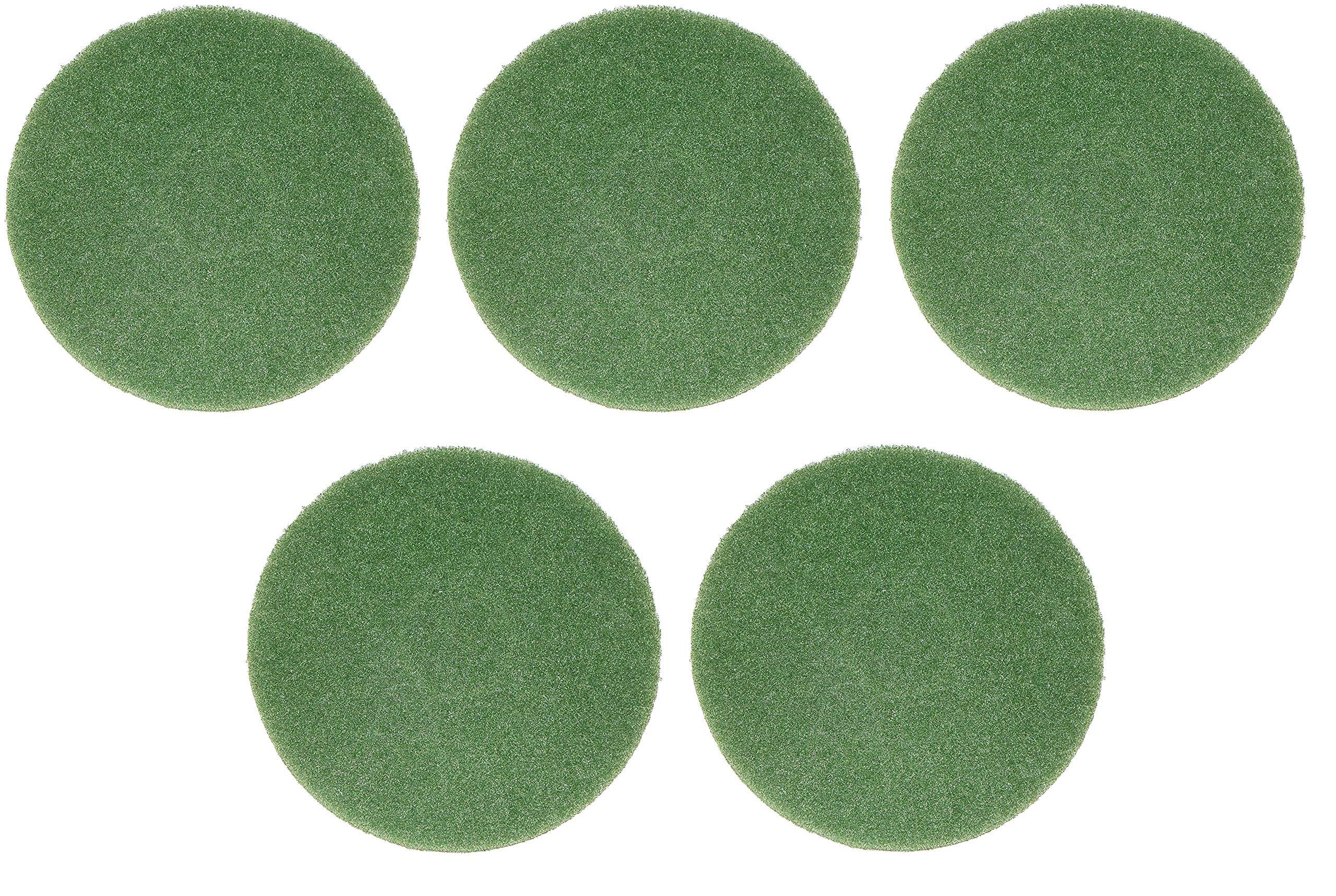 Oreck Commercial 437.056 Cleaning Orbiter Pad, 12'' Diameter, For 550MC Orbiter Floor Machine, Green (5-Pack)
