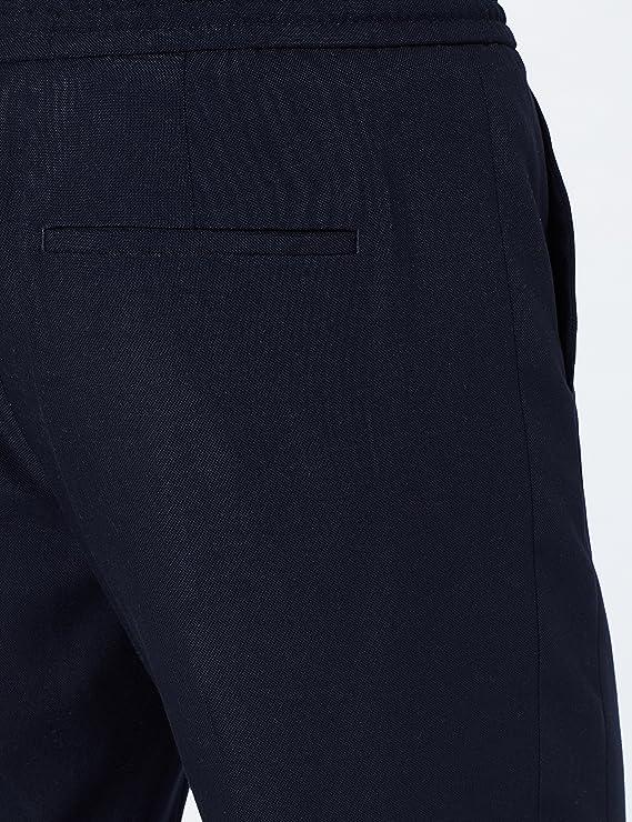 Marca Amazon - MERAKI Pantalón de Vestir con Elástico Hombre, Gris ...