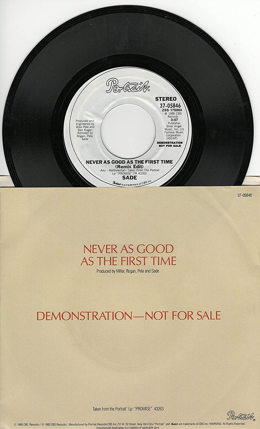 Sade Sade Never As Good As The First Time 457 Stereo Lp Version