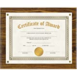V-LIGHT Walnut Finish Wood Award Plaque
