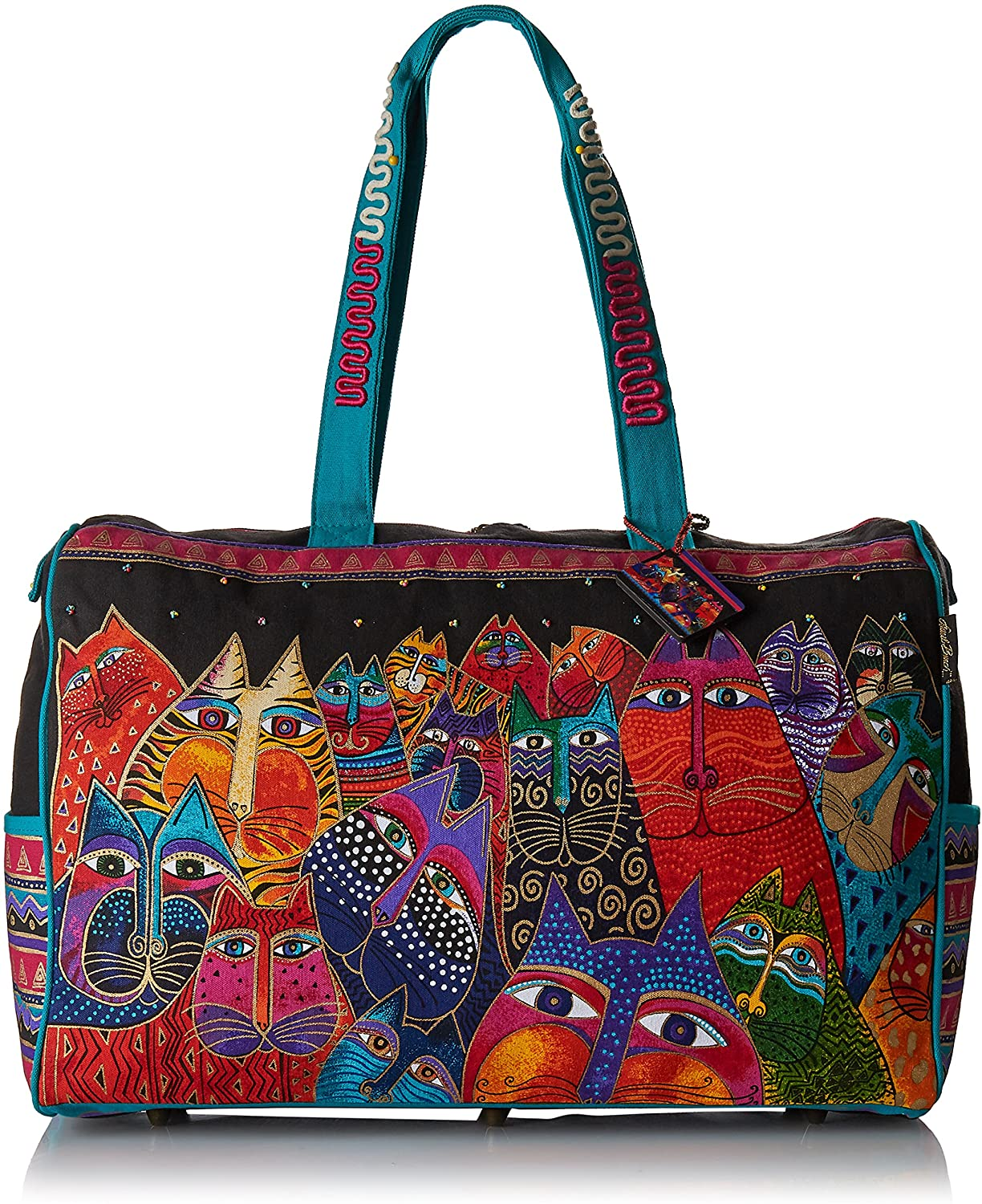 Laurel Burch Travel Bag Zipper Top 21-Inch by 8-Inch by 16-Inch, Fantasticats