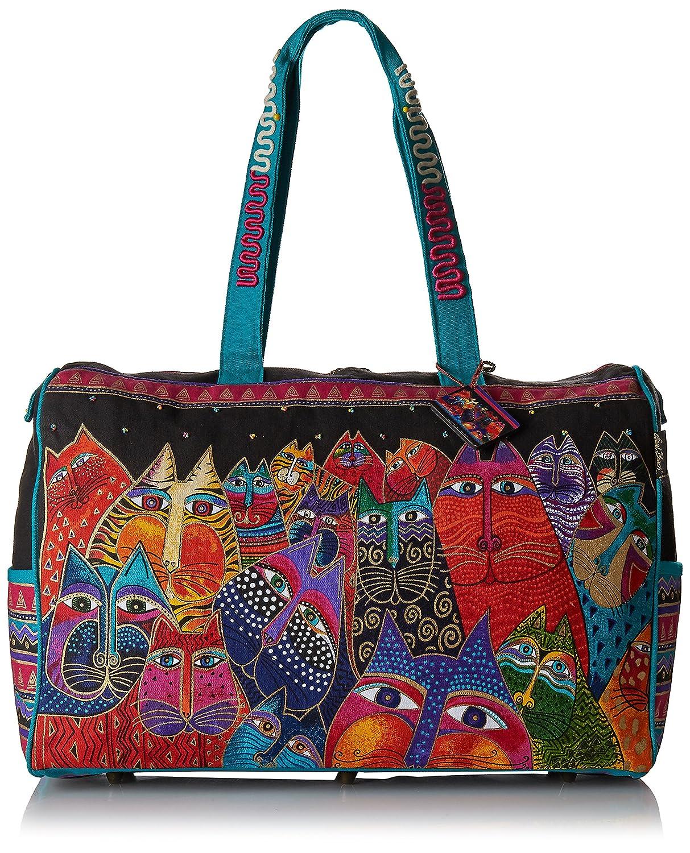 Laurel Burch Travel Bag Zipper Top 21-Inch by 8-Inch by 16-Inch, Fantasticats LB5231