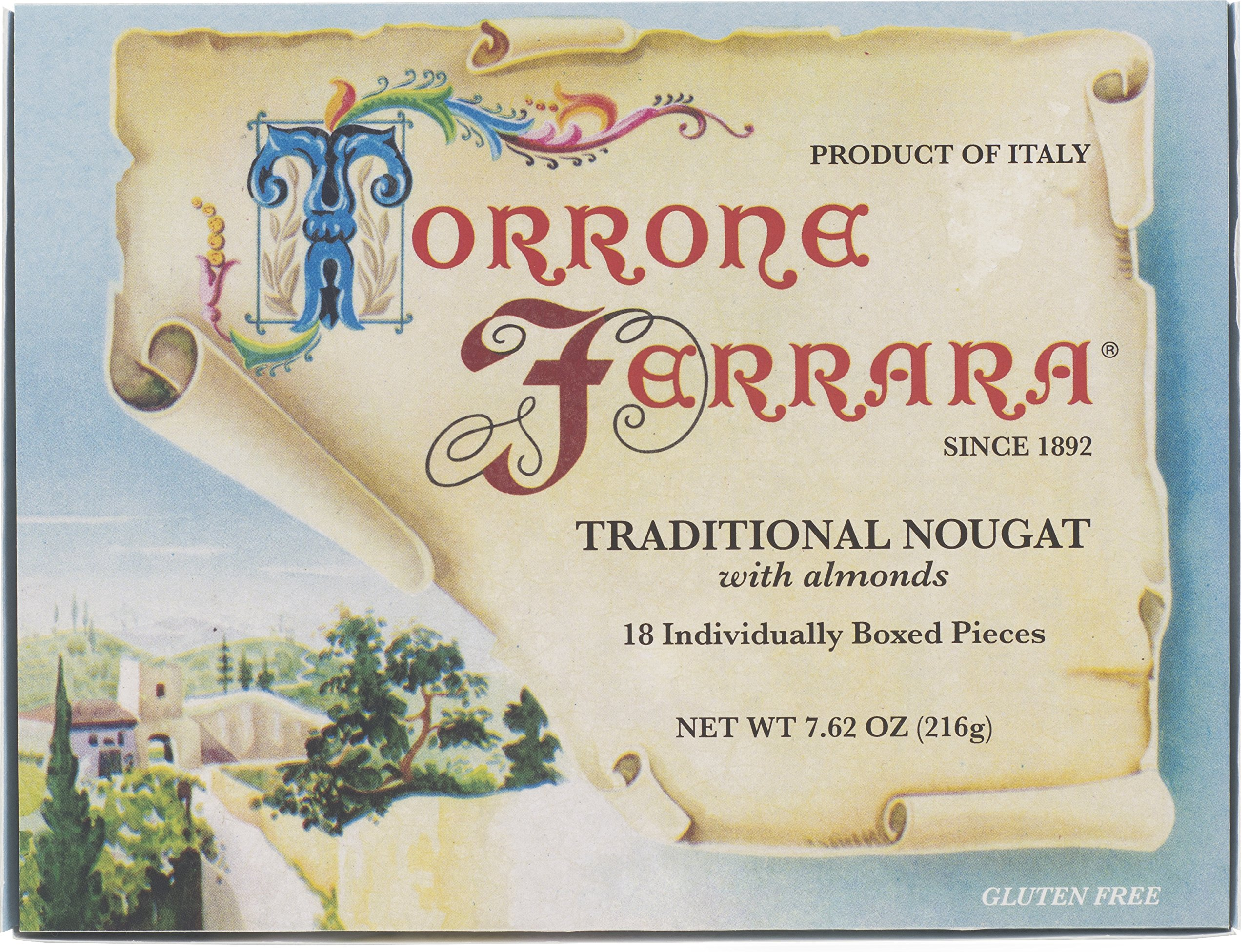 Ferrara Traditional Torrone, 18 pieces - Pack of 4 by Ferrara