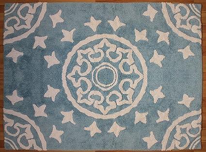 Tappeti Per Bambini Lavabili In Lavatrice : Aratextil duna tappeto per bambini cotone celeste cm