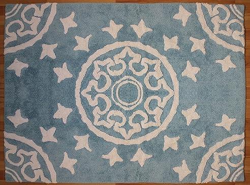 latest aratextil duna kinder teppich baumwolle himmelblau x cm with teppich baumwolle - Ovaler Broteppich