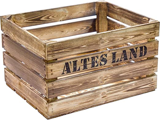 Flameado de madera 49 x 42 x 31 cm caja de fruta de: Amazon.es: Hogar