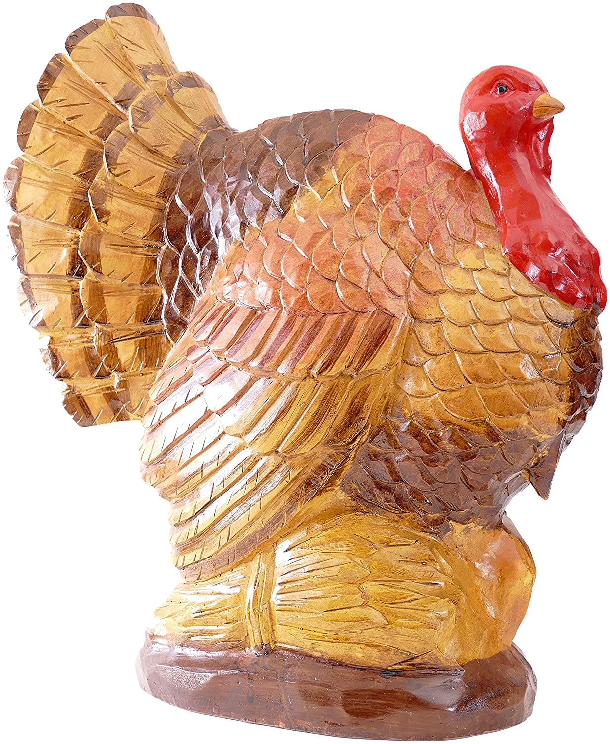 Thanksgiving Fall Harvest Turkey Figurine Centerpiece Sculpture