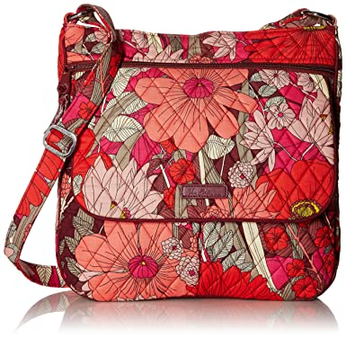 9a67d24f8f63 Vera Bradley Women s Double Zip Mailbag Bohemian Blooms Cross Body ...