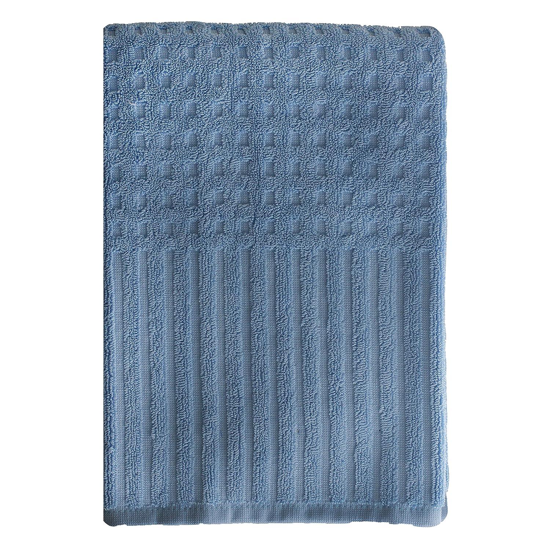 Homewear City Stripe Bath Towel, Sky Blue