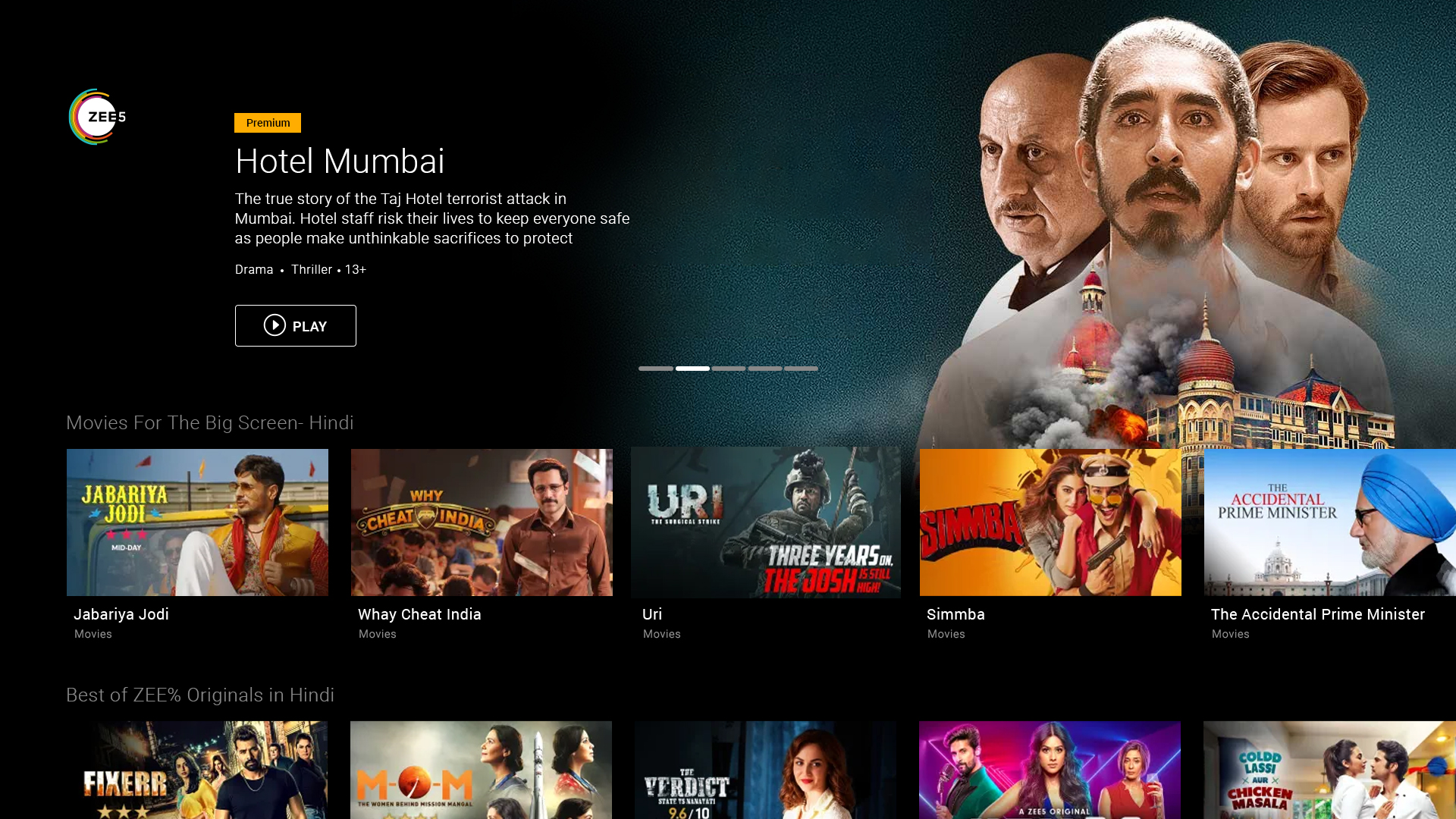 ZEE5 – Movies, Shows, LIVE TV & Originals | An alternative to netflix in india
