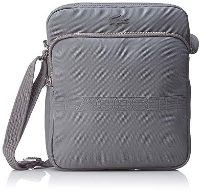 b98abe60133 Lacoste NH2208MS homme Men s Classic Fantaisie Sacs portes main Gris (Steel  Gray)