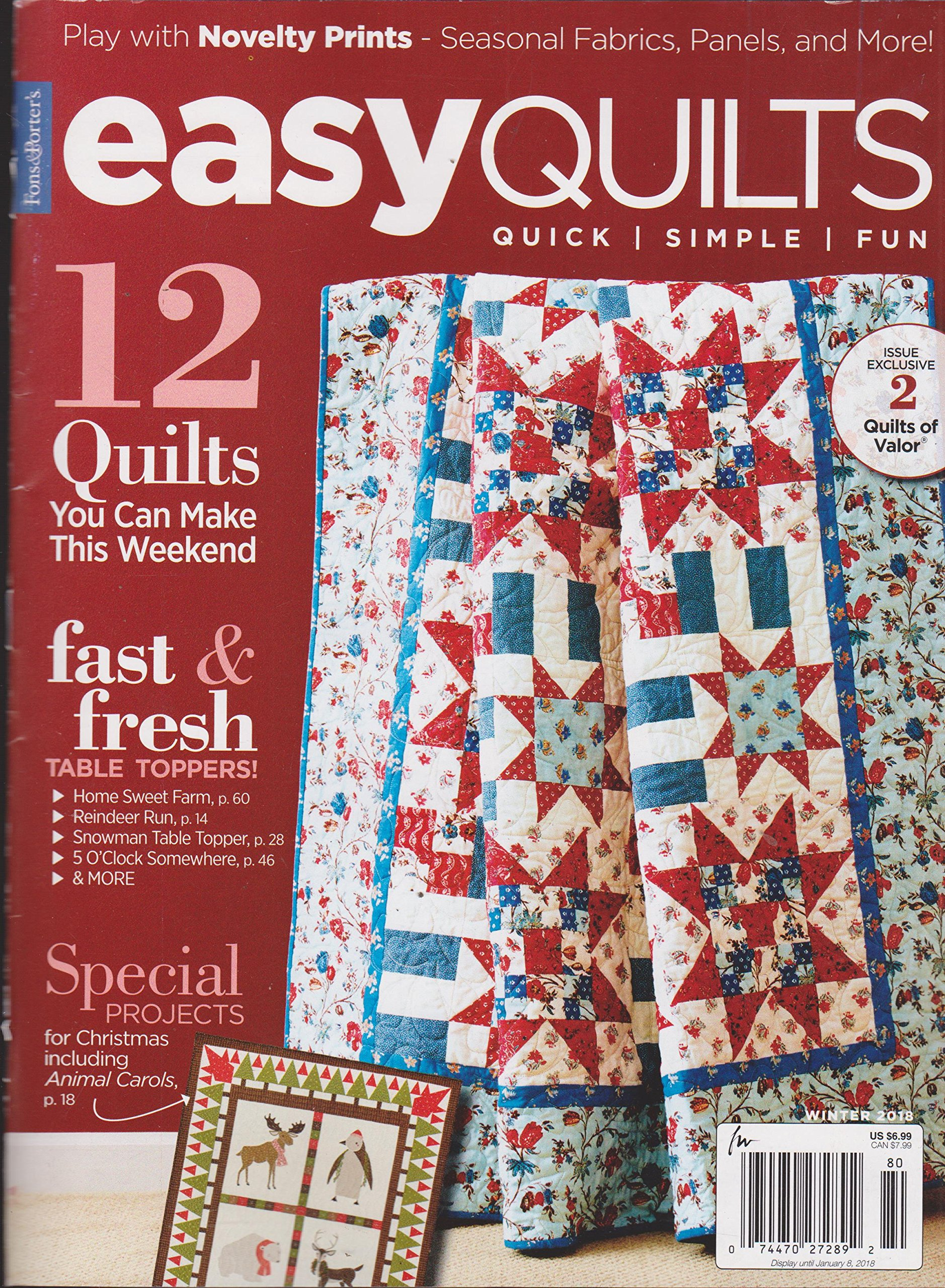 Download Fons & Porter's Easy Quilts Magazine Winter 2018 12 Quick Simple Fun ebook