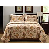 Greenland Home Fashions Andorra Quilt Set, Multicolor, King