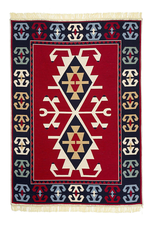 Reversible Love Union Turkish Kilim Rug