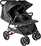 """Childcare Twin Tour Stroller """"Shadow"""", Black"""