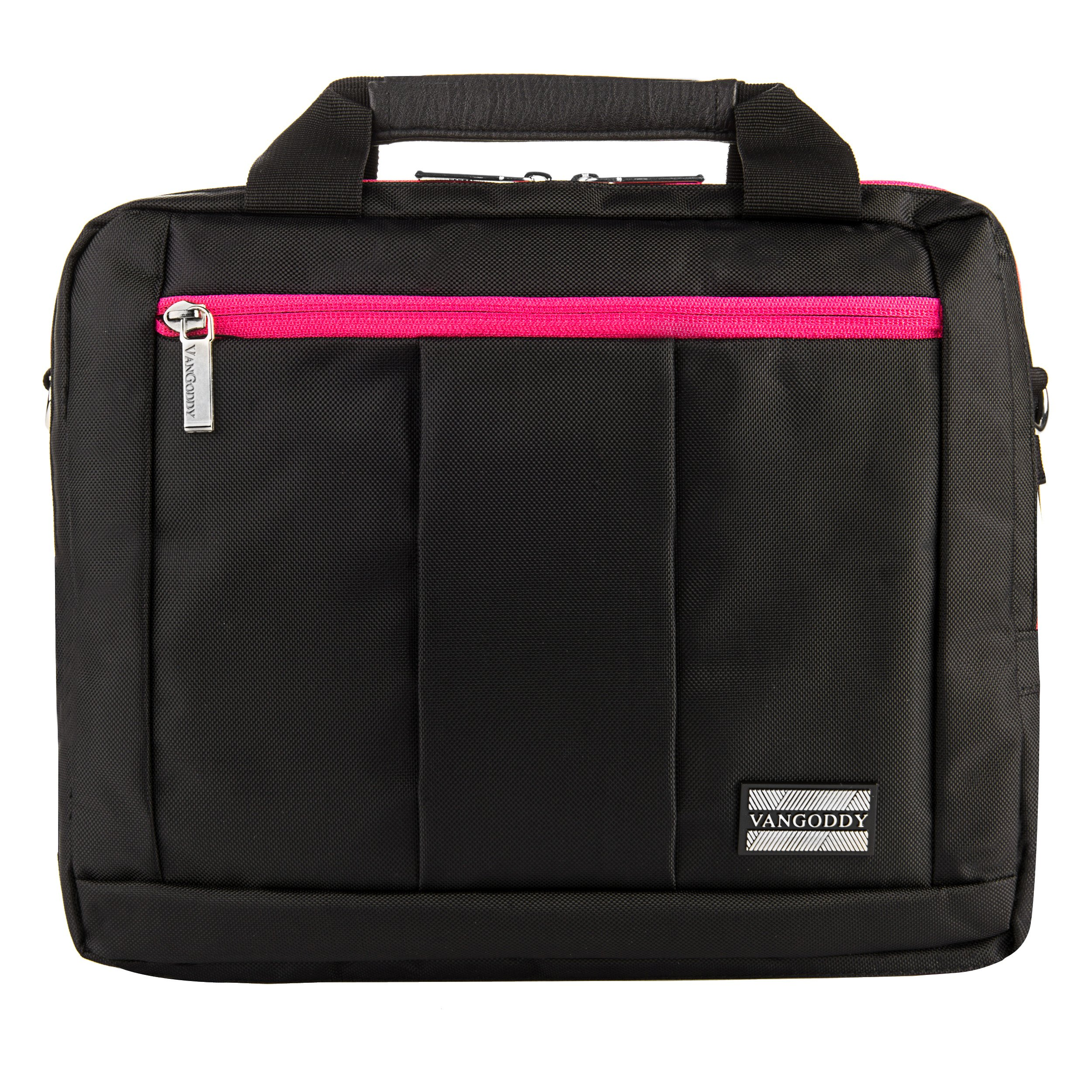Executive Travel Carrying Bag, Messenger Bag & Backpack For Samsung Galaxy Tab PRO / Galaxy Note PRO 12.2'' Tablet + Pink Bluetooth Suction Speaker by Vangoddy (Image #8)