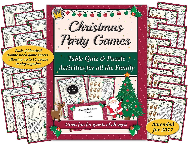 Juegos de fiesta de Navidad: prueba de mesa y rompecabezas ...