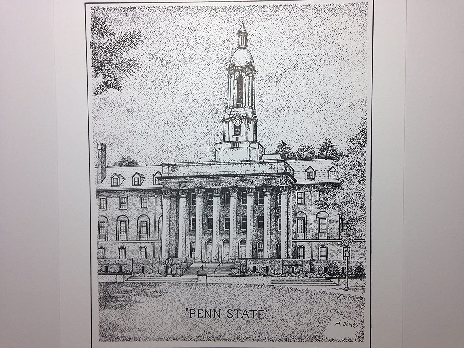 Penn State - Old Main 8x10 pen and ink print